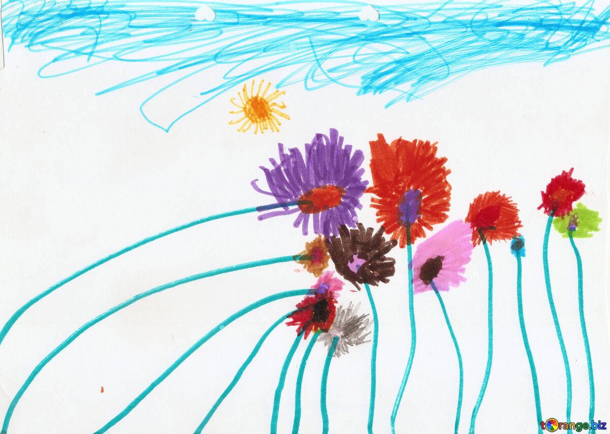 childrens-childhood-drawings-flowers-drawing-wildflowers-42859
