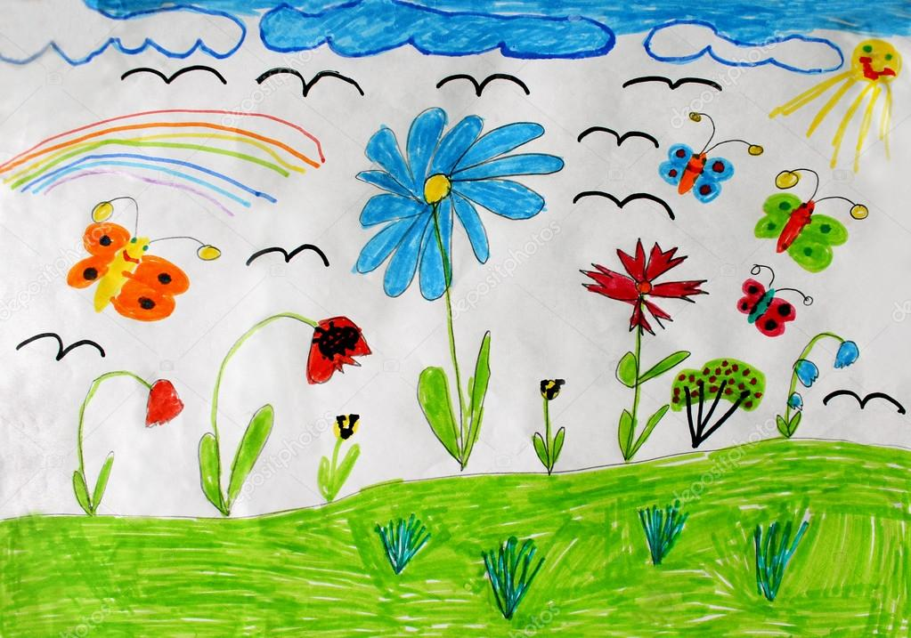 depositphotos_26149137-stock-photo-childrens-drawing-with-butterflies-and